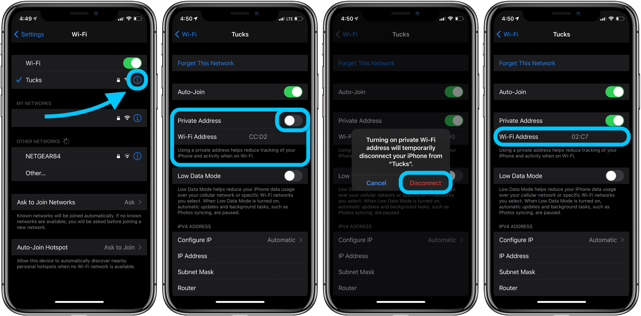 How to use private WiFi MAC address on iPhone in iOS 14