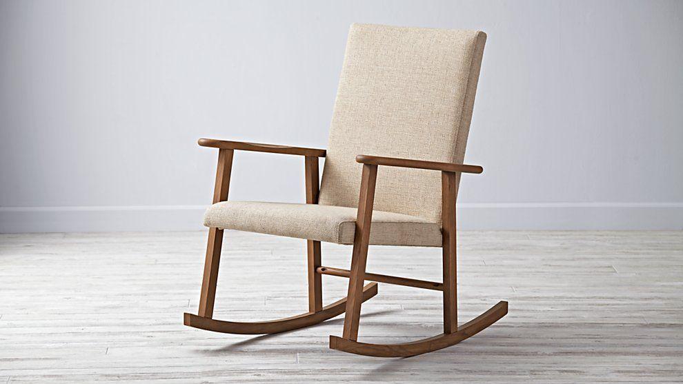 Mid Century Rocking Chair The Land Of Nod Nursery Ideas