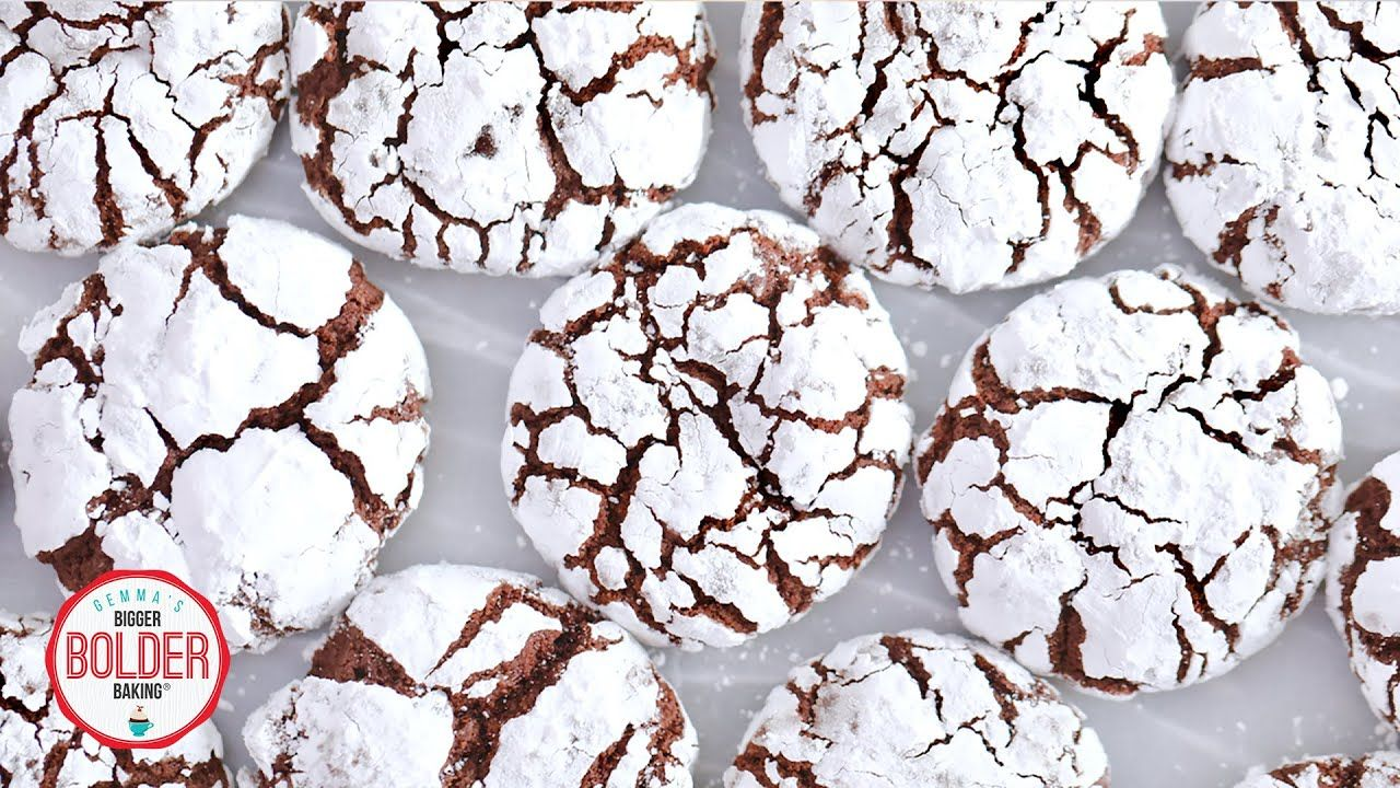 Chocolate Crinkle Cookies | Bigger Bolder Baking #chocolatecrinklecookies
