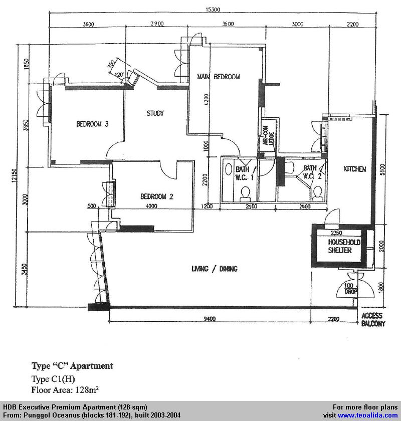 Punggol Oceanus Hdb Executive Apartment Floor Plan 128 Sqm In 2020 Floor Plans Apartment Floor Plan Utility Rooms