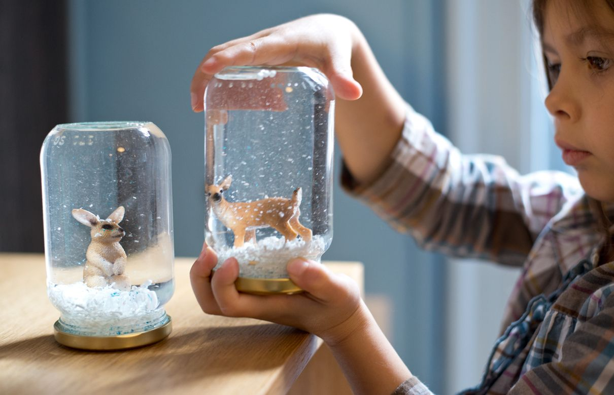 Home made/children's snow globes
