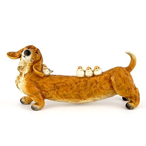 Top Collection 525 Tall 11 Long Large Garden Dachshund Birds
