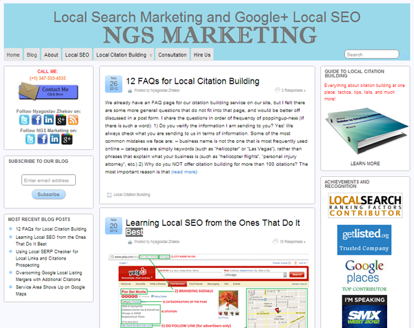 Ngs Marketing Blog Local Search Marketing And Google Local Seo By Nyagoslav Zhekov Http Ww Local Seo Search Marketing Internet Marketing Agency