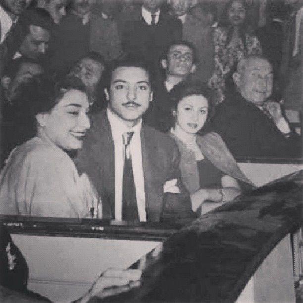 رشدي اباظه وفاتن حمامة Egyptian Actress Arab Celebrities Old Egypt
