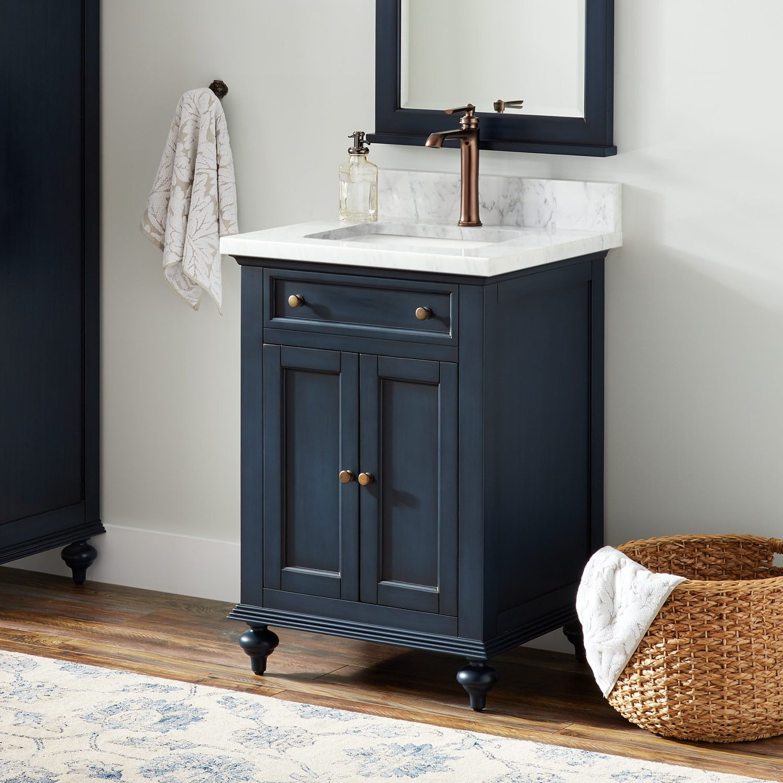 24 Keller Mahogany Vanity For Rectangular Undermount Sink
