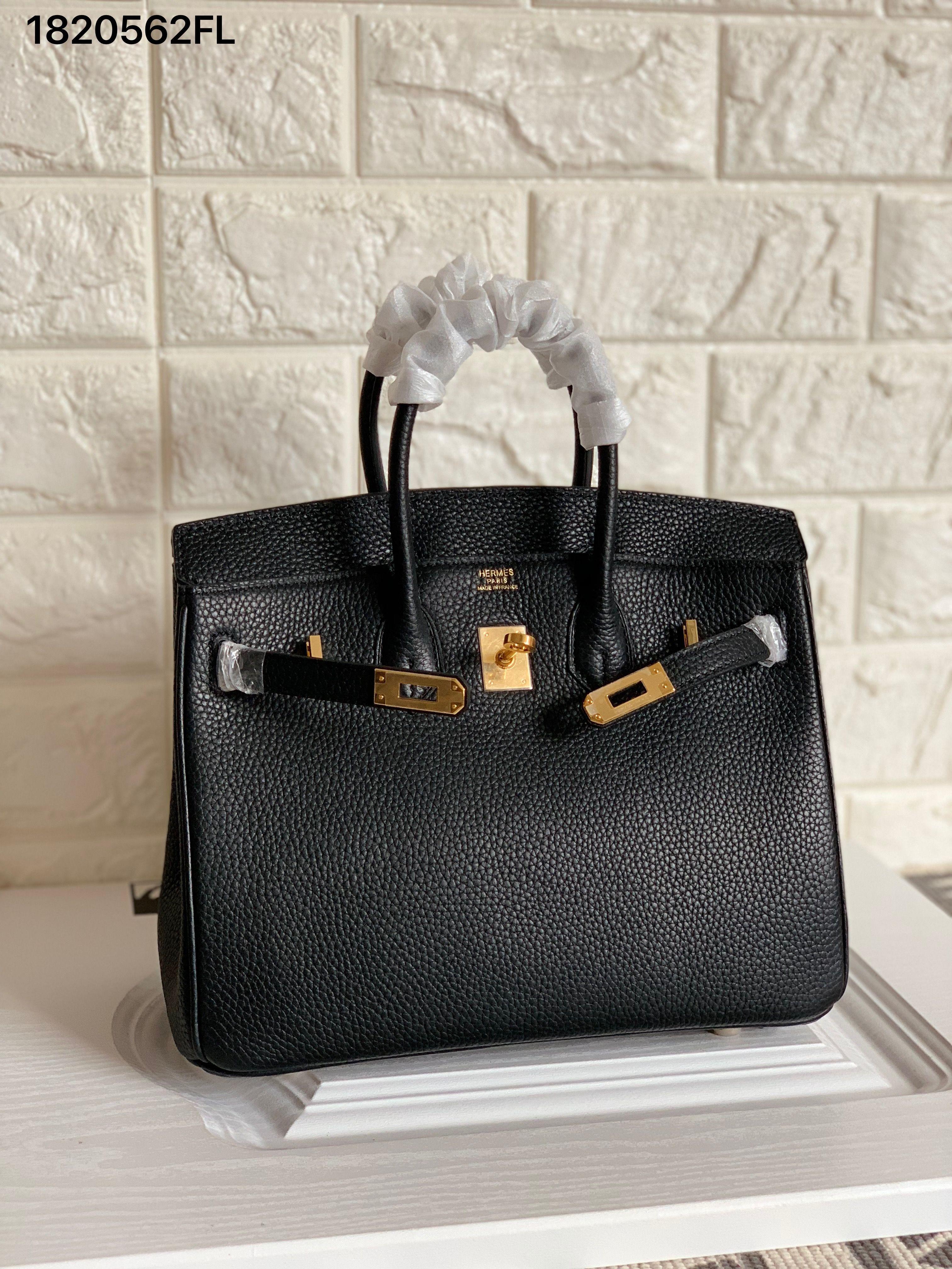 60f0bd678e9 Hermes birkin bag Togo original leather version 25cm black gold ...
