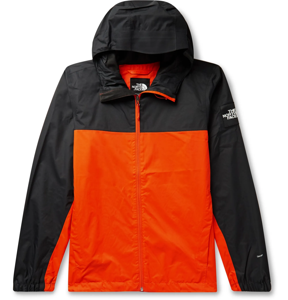 Orange Mountain Q Colour Block Waterproof Dryvent Hooded Jacket The North Face Mr Porter Hooded Jacket Men Hooded Jacket Jackets [ 1044 x 1000 Pixel ]