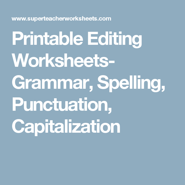 Crm Worksheet Word Printable Editing Worksheets Grammar Spelling Punctuation  Resume Worksheet Excel with Parts Of A Plant Worksheet For First Grade Word Printable Editing Worksheets Grammar Spelling Punctuation Capitalization English Worksheets Grade 1 Excel