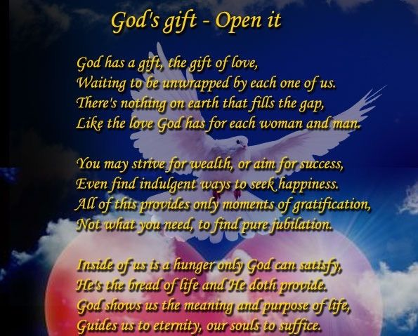 God's gift - Open it.... - Spiritual Poetry | Nice landscapes ...