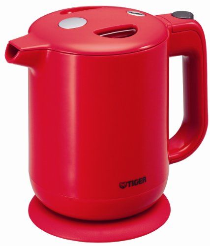 TIGER electric kettle tomato red 06 L machining fluorine