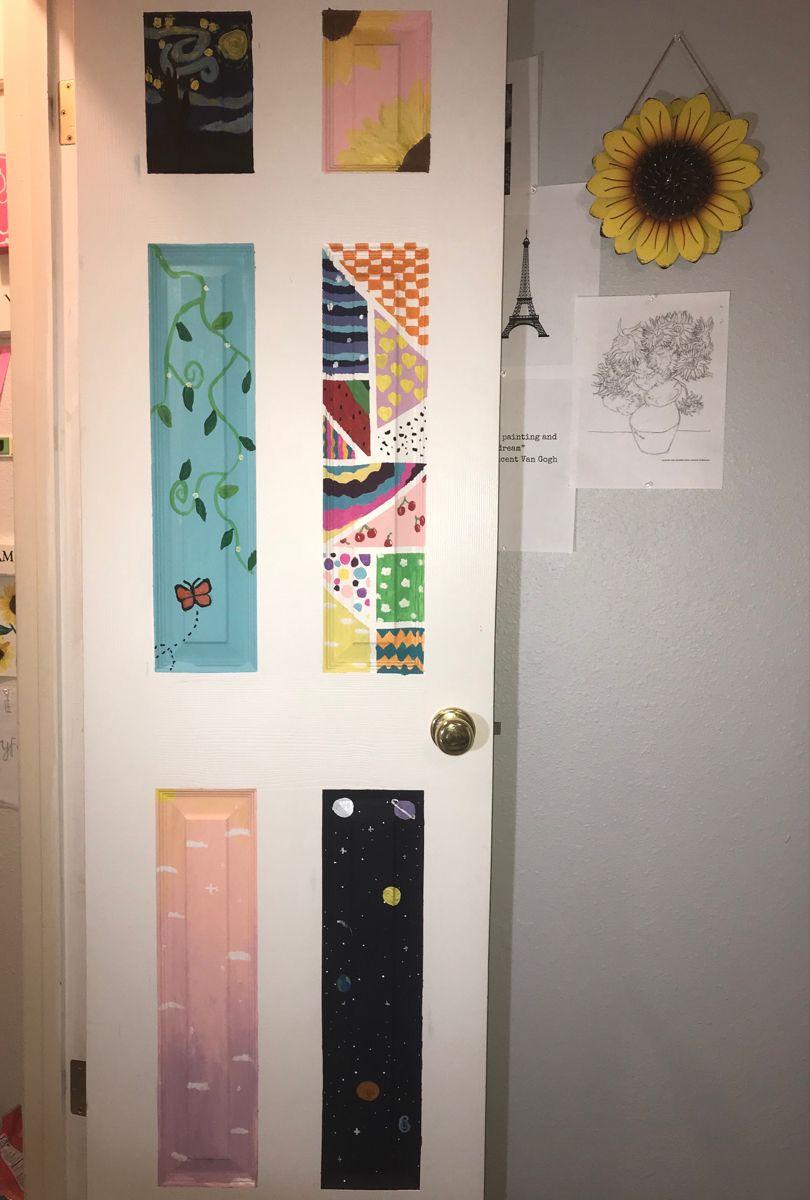 Door Painting Painted Bedroom Doors Painted Doors Room Wall Painting