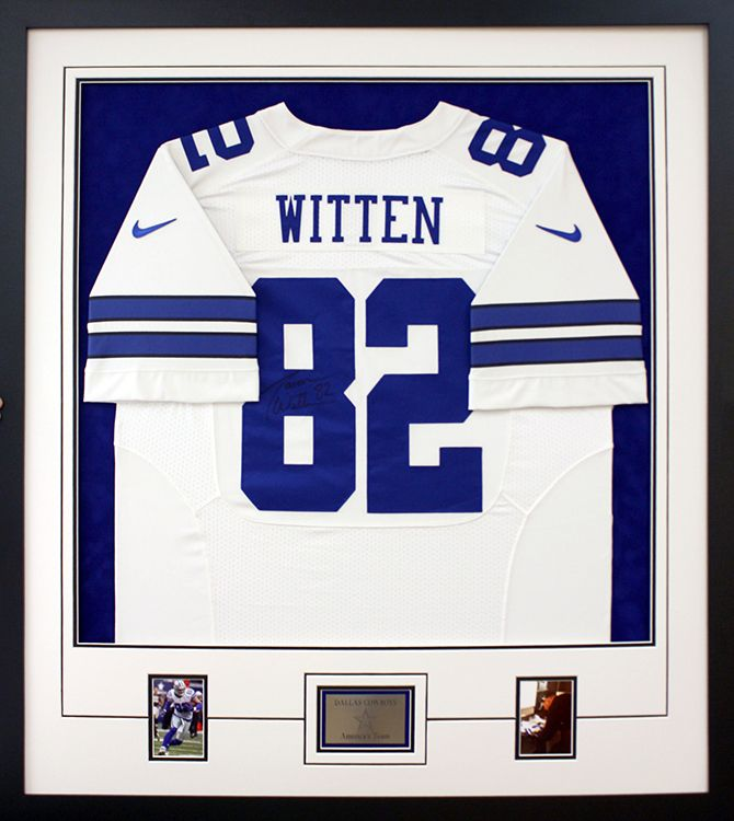 dallas cowboys jersey frame