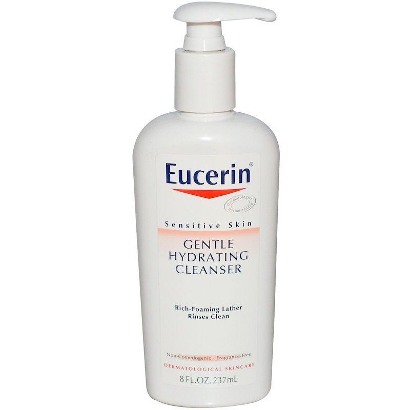 Eucerin غسول مرطب لطيف خال من العطور 8 أونصة سائلة 237 مل Hydrating Cleanser Fragrance Free Products Cleanser