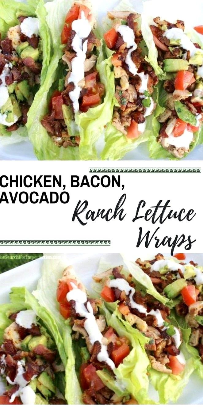 Chicken, Bacon, Avocado Ranch Lettuce Wraps | Keto Recipes #ketorecipesforbeginners