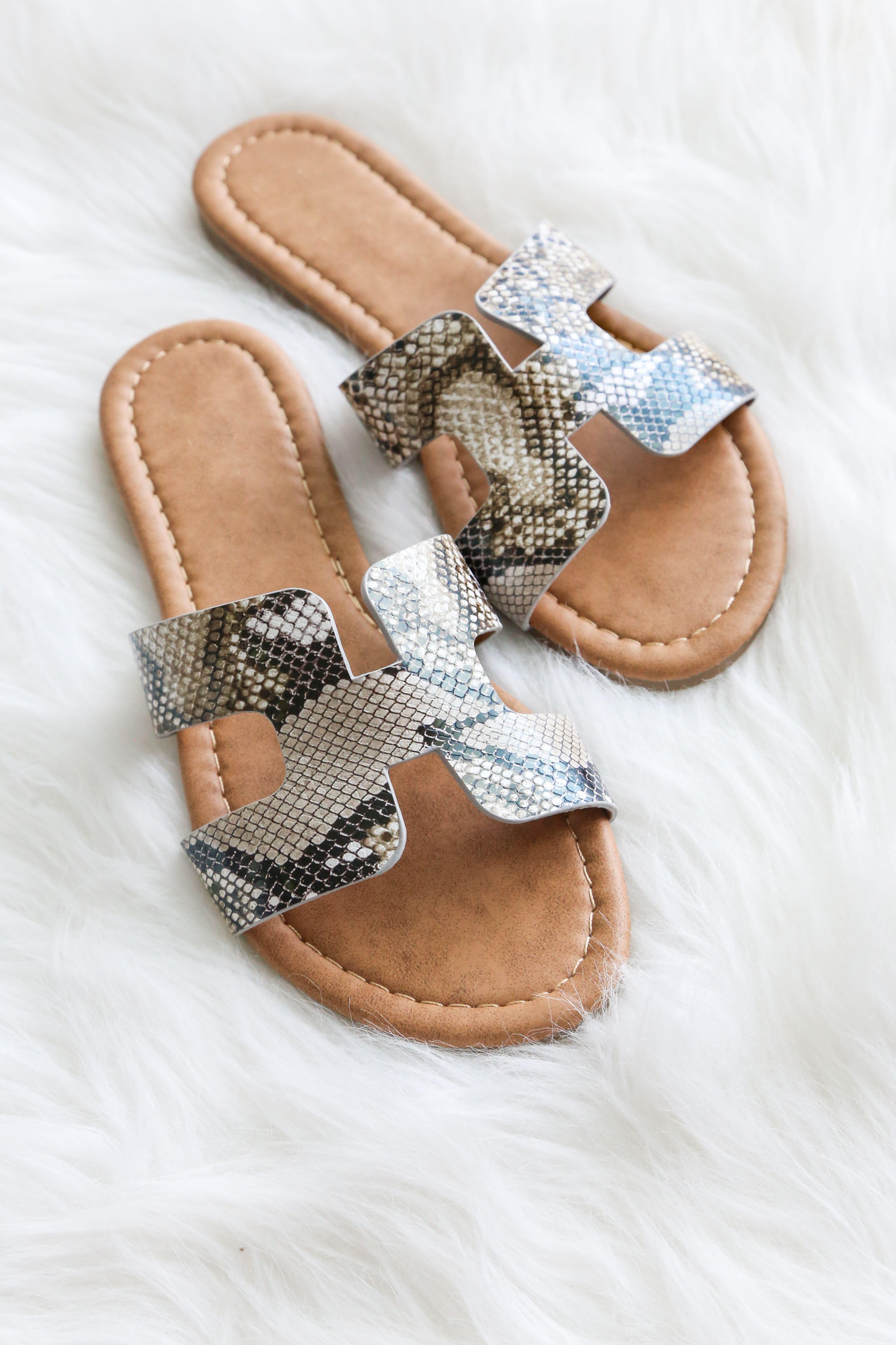 Snakeskin sandals | Snake skin shoes