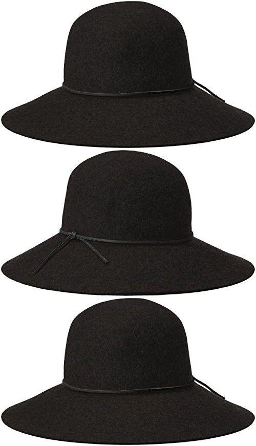 6f40053204803 Phenix Cashmere Women s Round Crown Wool Felt Floppy Hat