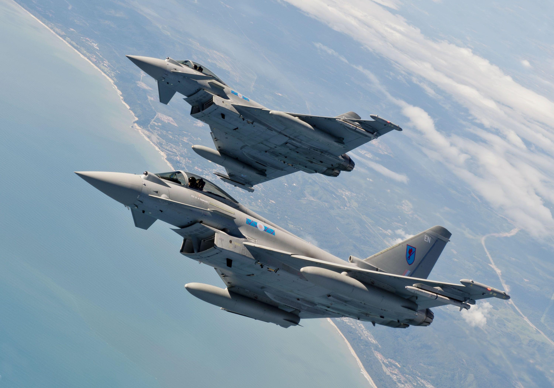 Обои fighter, military, eurofighter, Typhoon. Авиация foto 6