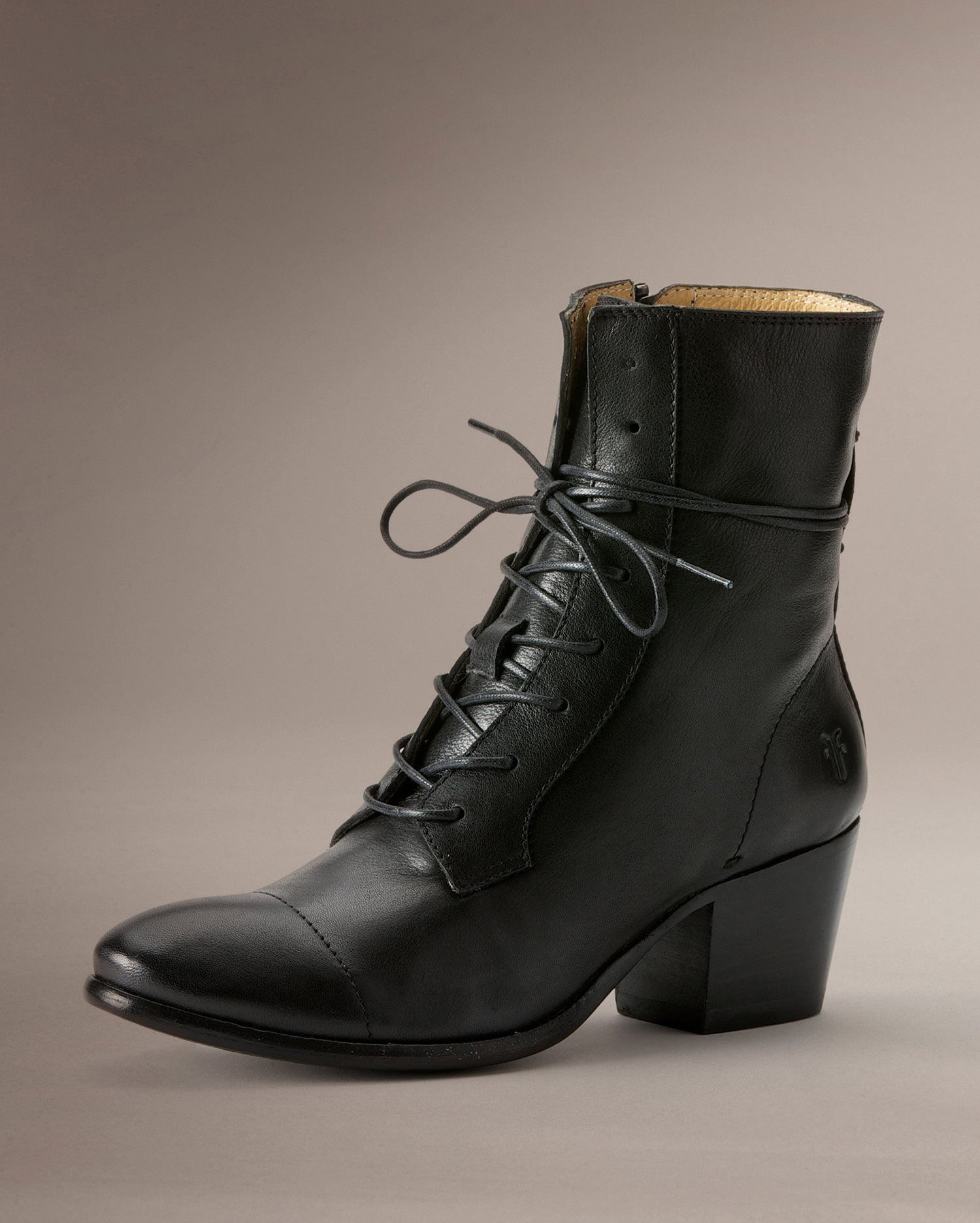 9b0fc7282d Leather Boots for Women - Best Seller. Courtney Lace Up -  Women_Boots_Casuals - The Frye Company $298 -side zipper, no tread