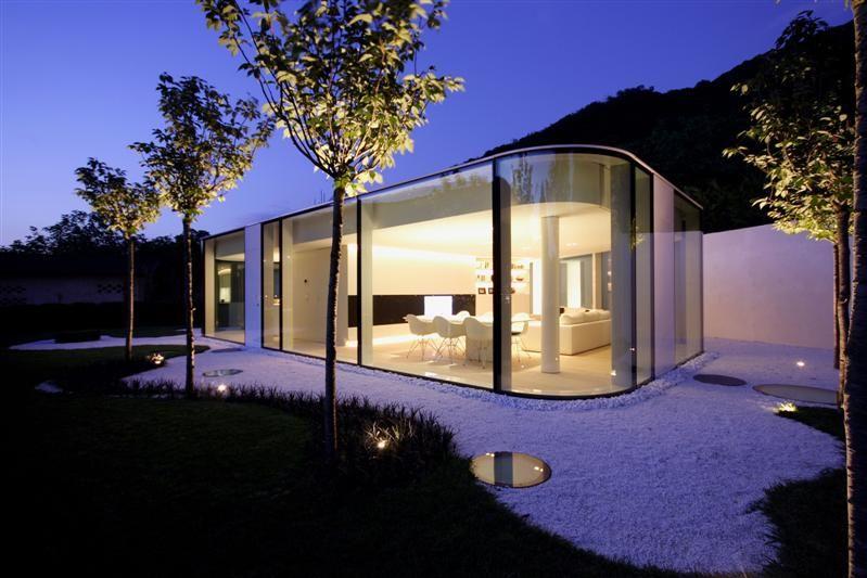 Glas Pavilion On Lake Lugano By Milan Based Architect Jacopo Mascheroni Architectuur Design Lugano