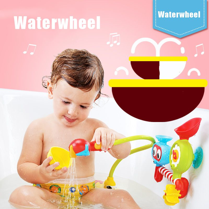 Bath Toys Water Faucet Taps Buttressed Spout Spray Shower Water ...