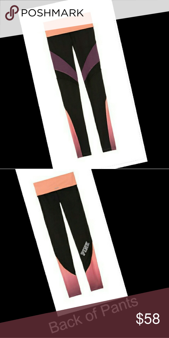 Love Pink Size Large, Brand New Without Tags, High Waisted Ultimate Leggings. Color is Lip Smacker. Chiffon Cut Outs. Very Pretty. PINK Victoria's Secret Pants Leggings