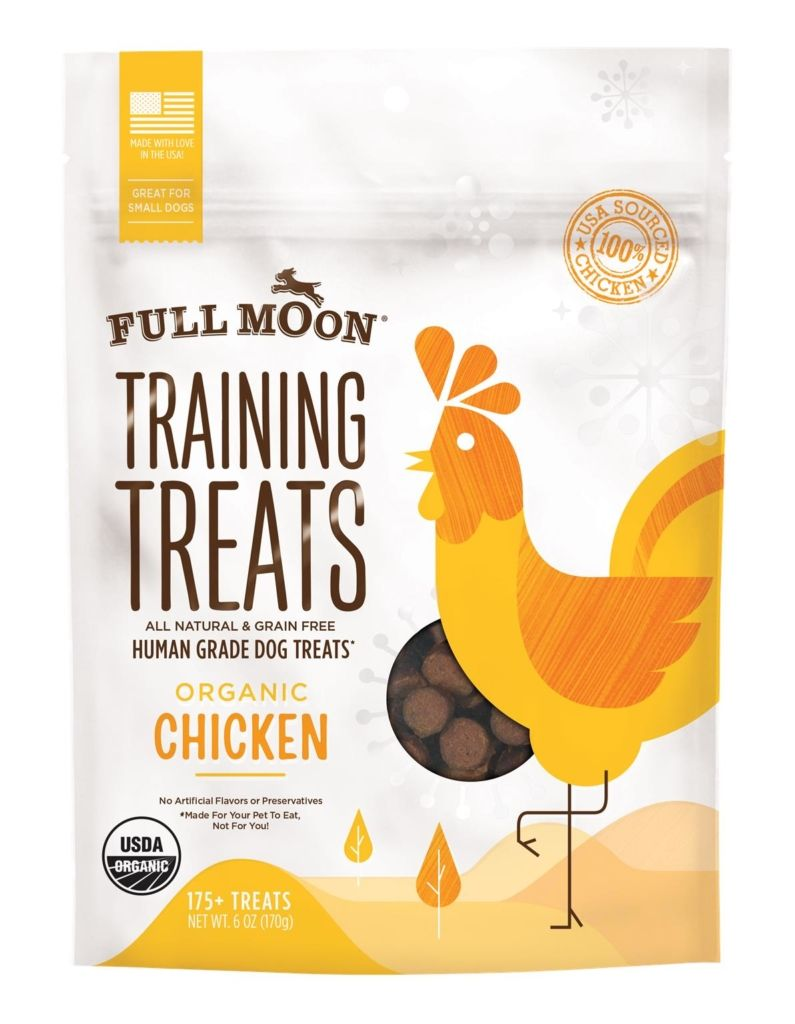 Full moon organic chicken training treats training
