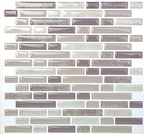Tic Tac Tile High Quality Anti Mold L And Stick Wall In Random Brick Grey