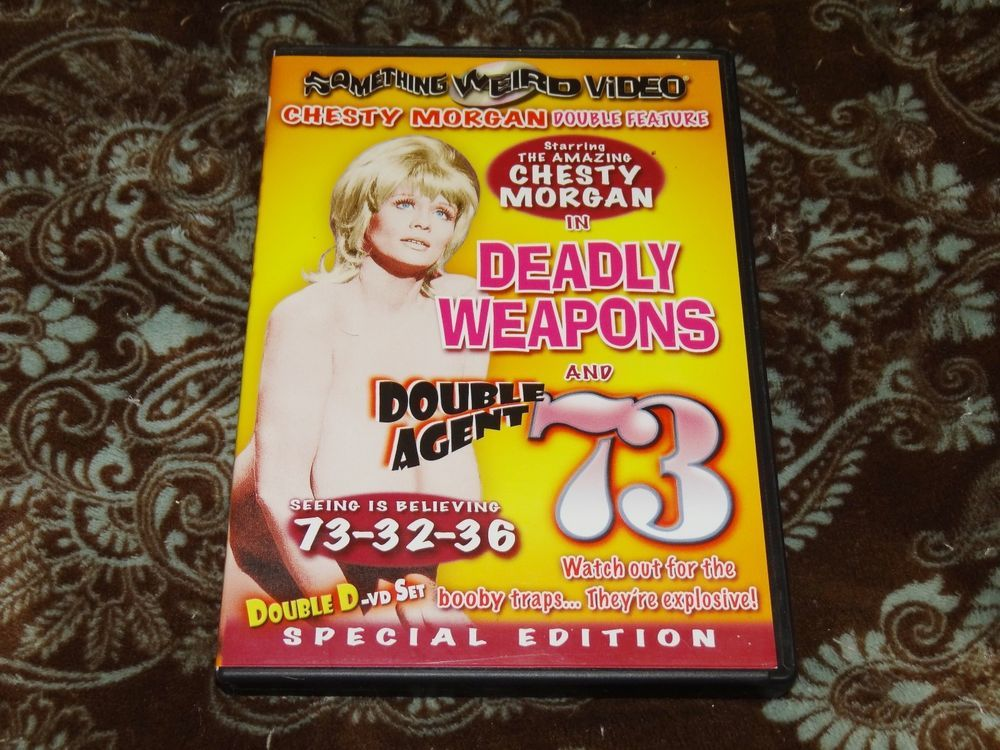 Deadly Weapons / Double Agent 73 (DVD, 2006, 2-Disc Set) Rare SWV Chesty Morgan!