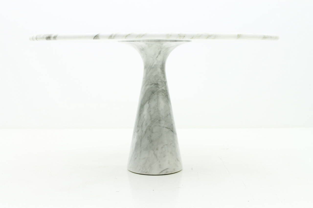Angelo Mangiarotti Marble Dining Table M1, Italy, 1969 | From a unique collection of antique and modern dining room tables at https://www.1stdibs.com/furniture/tables/dining-room-tables/