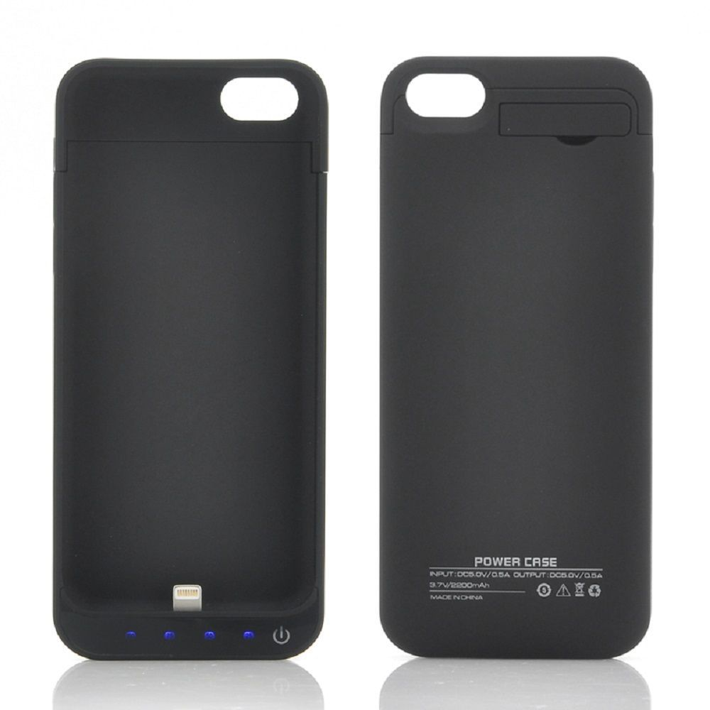 Case External Battery Charger Backup Iphone 2200mah Power Bank 5s 5