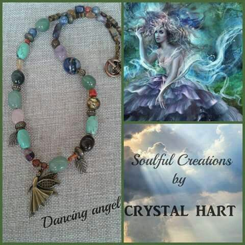 Dancing Angel multi crystal necklace by Crystal Hart