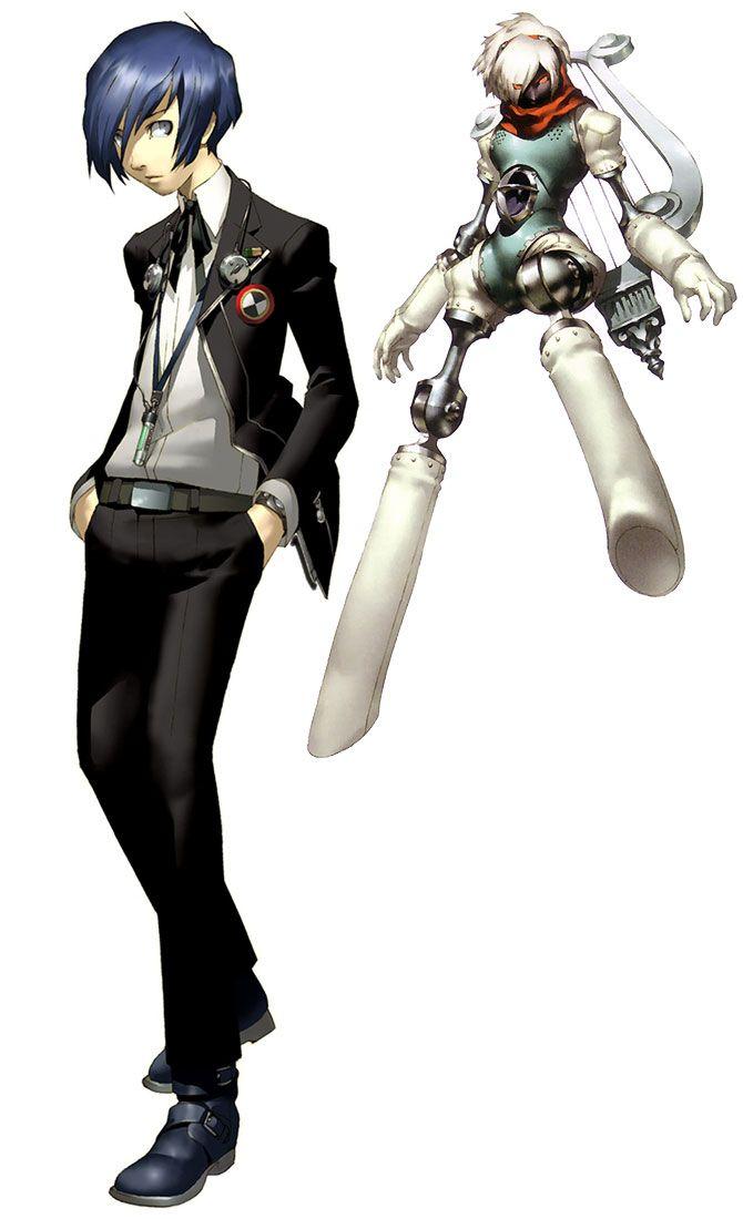 Persona 4 Anime Characters : Main character characters art shin megami tensei