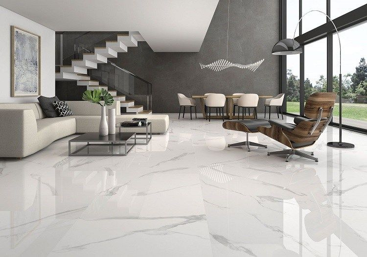 Marble Floors The Noble Beauty Of Natural Stone In Home Interiors In 2020 White Marble Floor Living Room Tiles Marble Living Room Floor #stone #floors #for #living #room