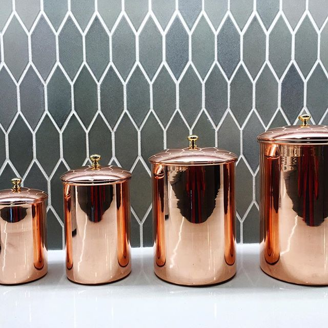 Hazard of the job: shopping the props. Like this insane set of @williamssonoma copper canisters that made the @sunsetmag show kitchen come alive last night during @mstanyaholland's killer cooking demo. #thenewSunset
