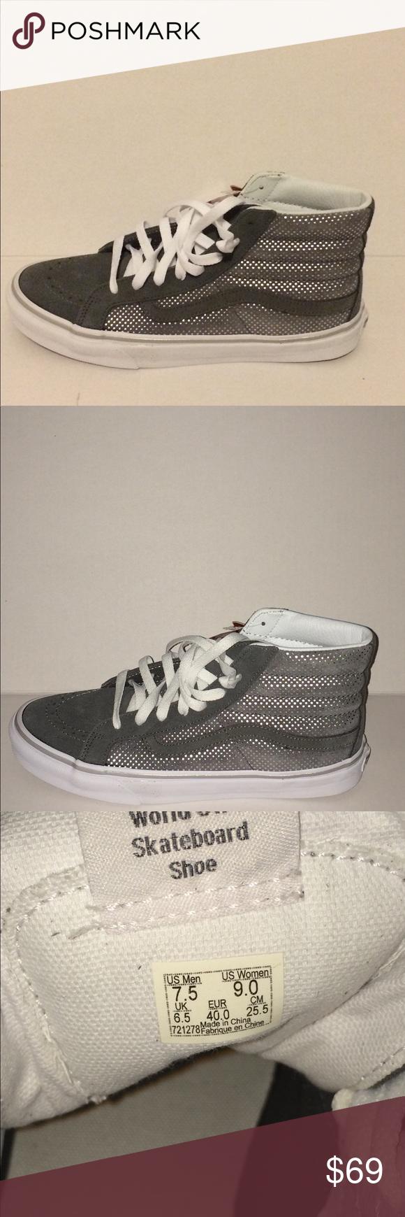 f6669fb09d Vans Sk8 Hi Slim (Metallic Dots) Skateboard shoes Vans Sk8 Hi Slim (Metallic