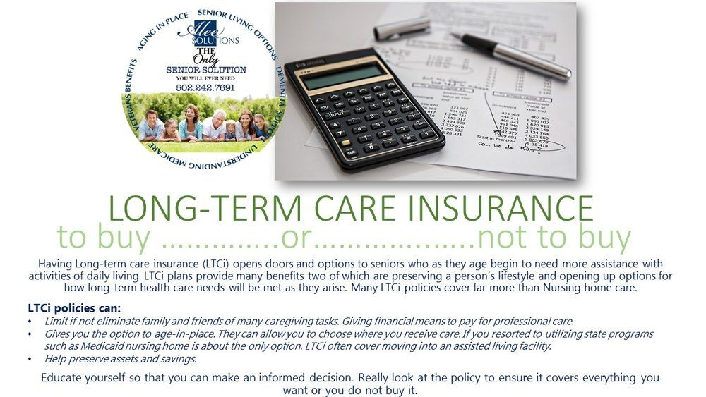 Longterm care insurance to buy or not to buy long term