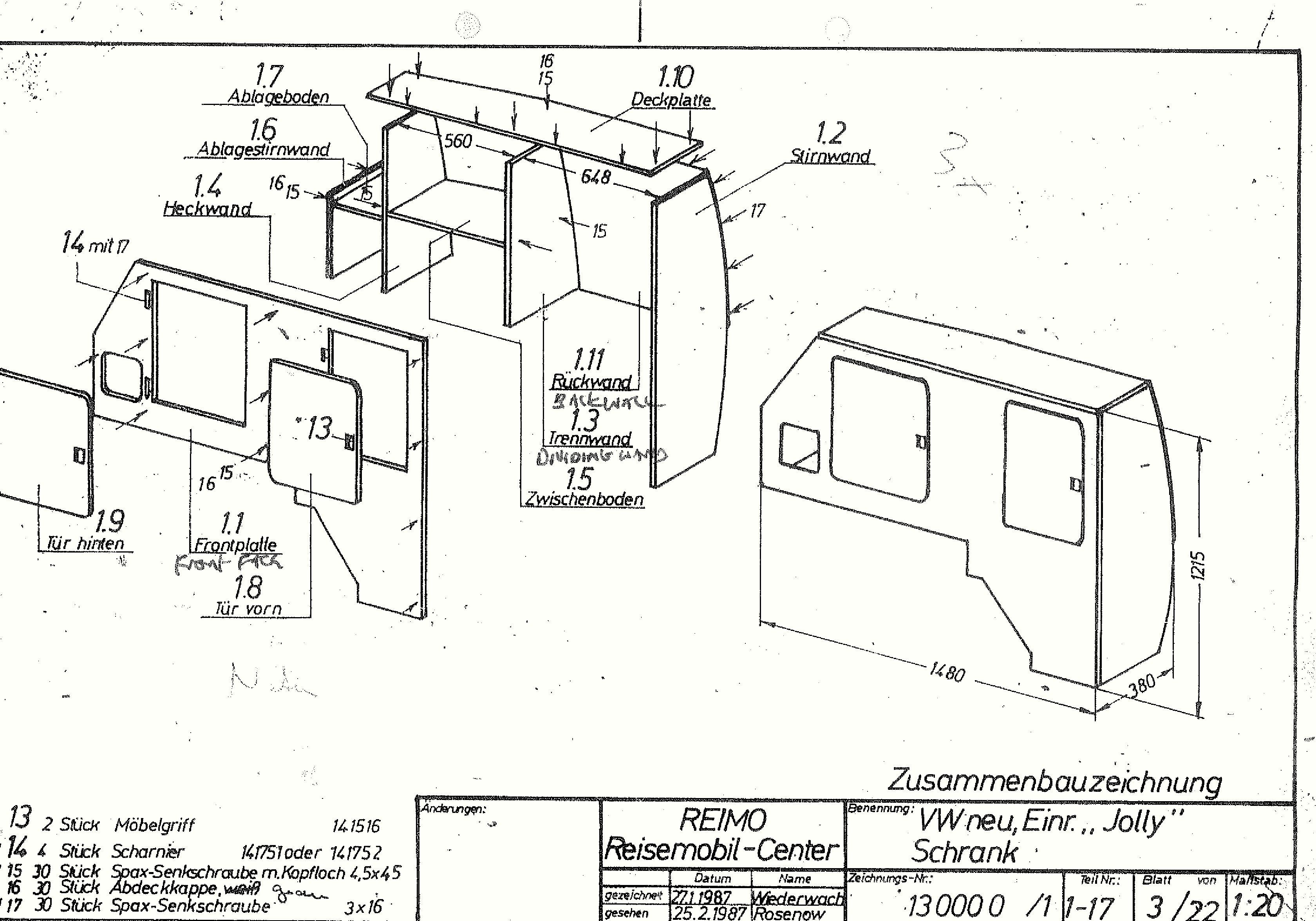 Vw Camper Interior Plans
