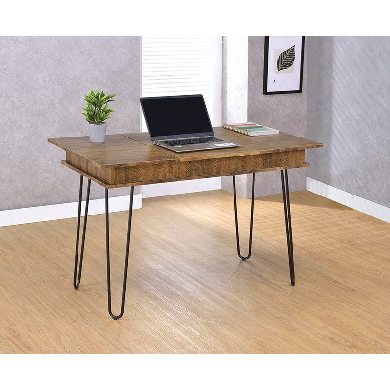 Carpentier Writing Desk With Images Solid Wood Writing Desk