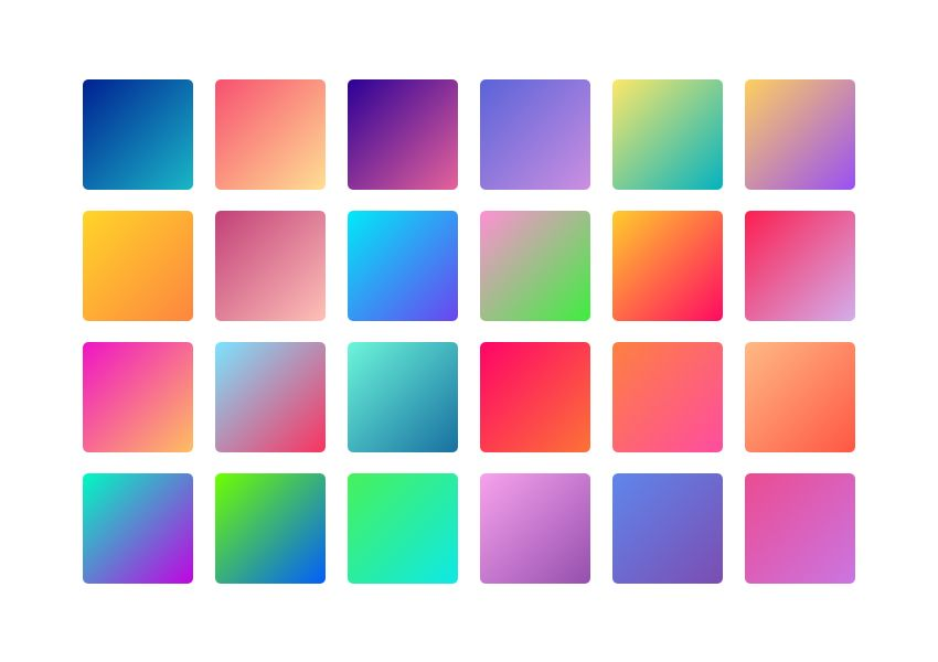 24 Modern Gradient Palettes With Images Brand Color Palette