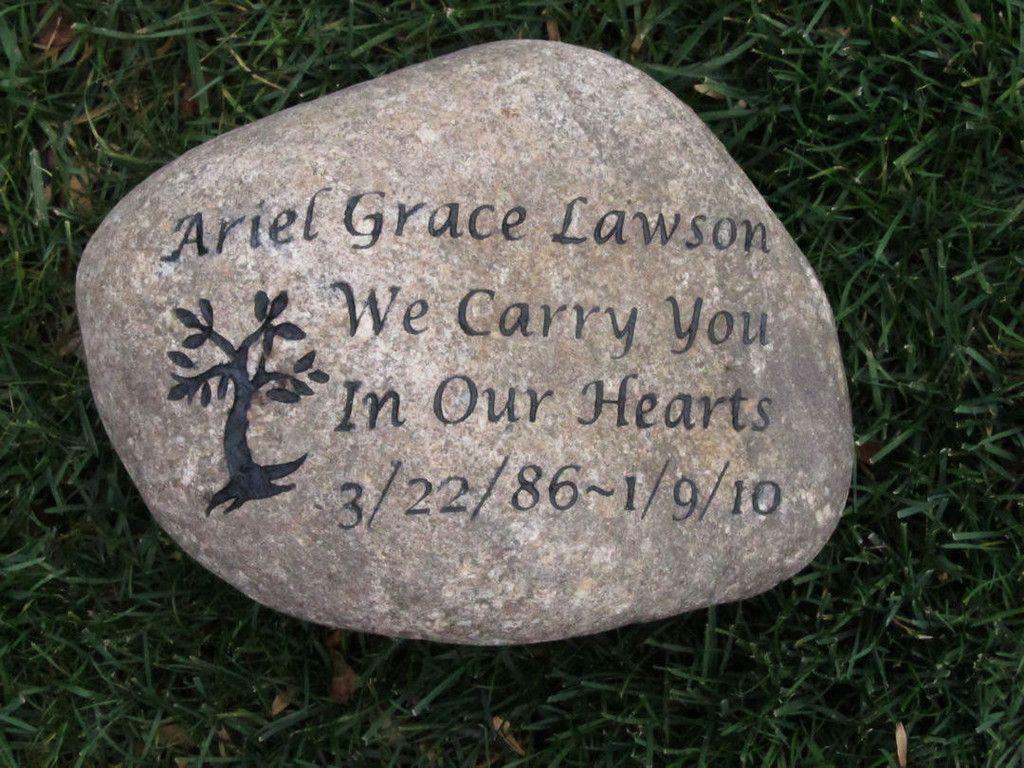 personalized memorial stones www