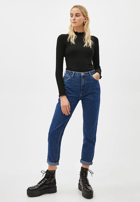 8bd018cc Jeans relaxed fit - blue @ Zalando.se 🛒 in 2019 | BAS | Jeans, Mom ...