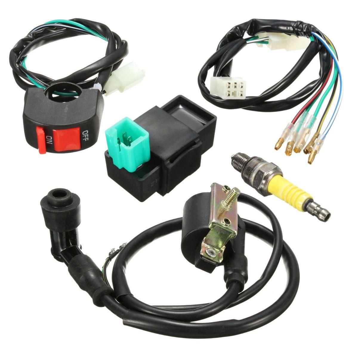 2a1294215cebb125ab41eb4df7b8532c wiring loom kill switch coil cdi spark plug kit for 110cc 125cc auto electrical wiring diagrams at honlapkeszites.co