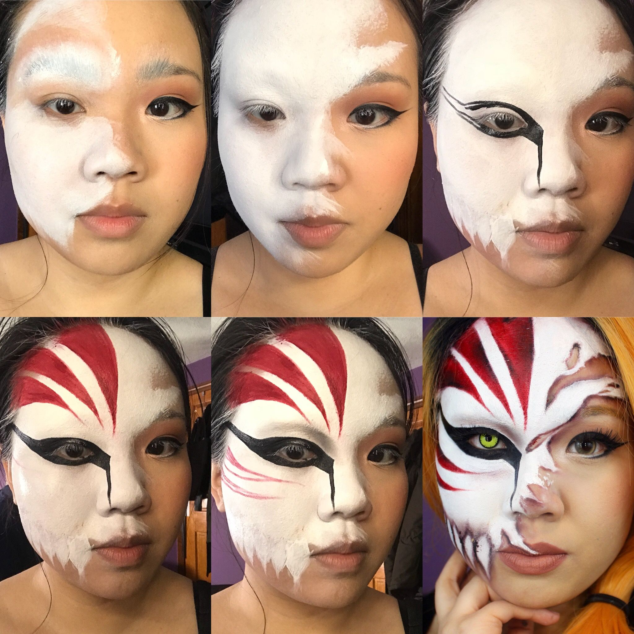 Ichigo Cosplay Face Paint Rock This Easy To Do Cosplay Makeup Look At Your Next Anime Convention It S Kawaii And Scary Ichigo Cosplay Makeup Cosplay Makeup