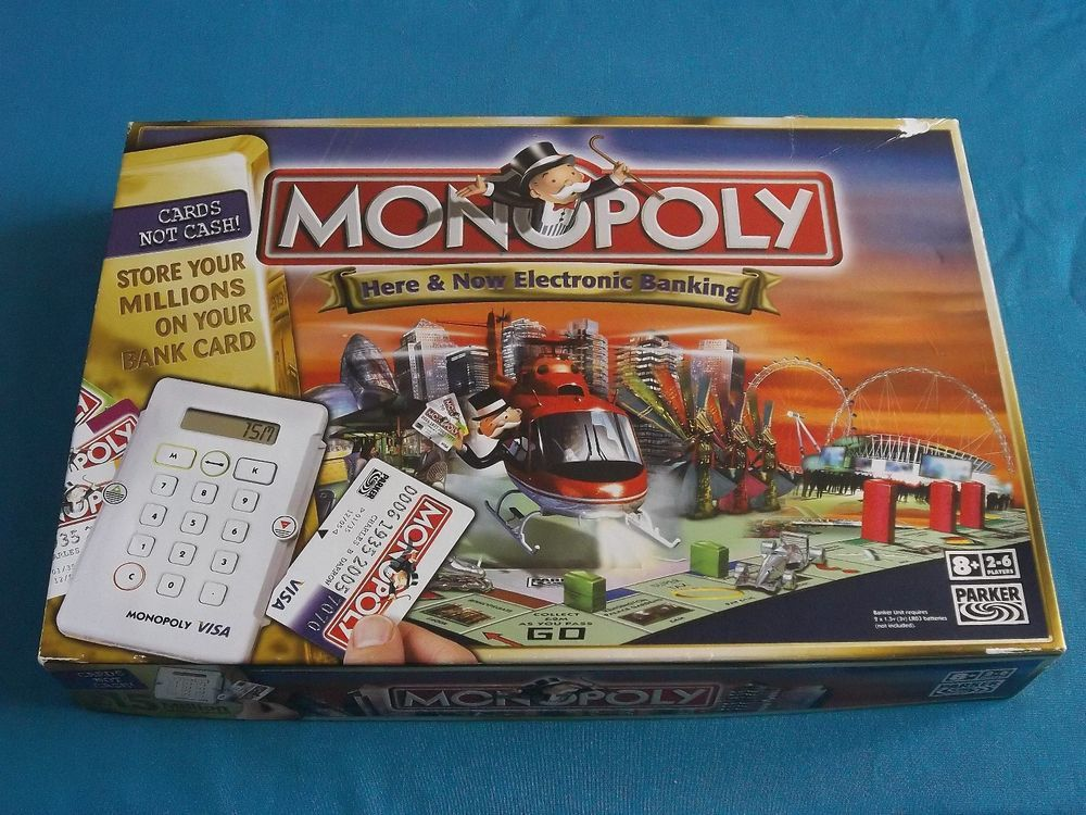 Monopoly Here Now Electronic Banking Edition Contents In Very