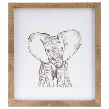 Baby Elephant Framed Wall Decor Hobby Lobby In 2020 Frame Wall Decor Elephant Wall Decor Elephant Wall Art