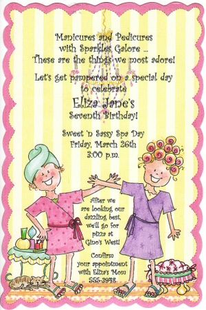Invitations For Little Girls Little Spa Girl Pamper Party