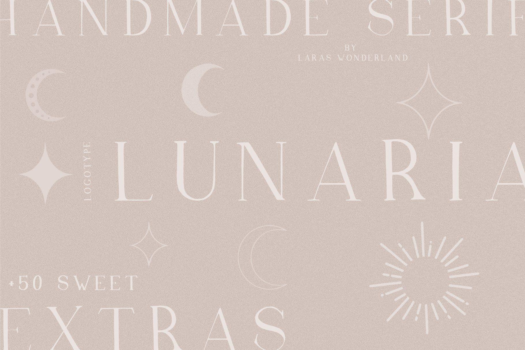 Lunaria Handmade Serif Font in 2020 Handmade logo