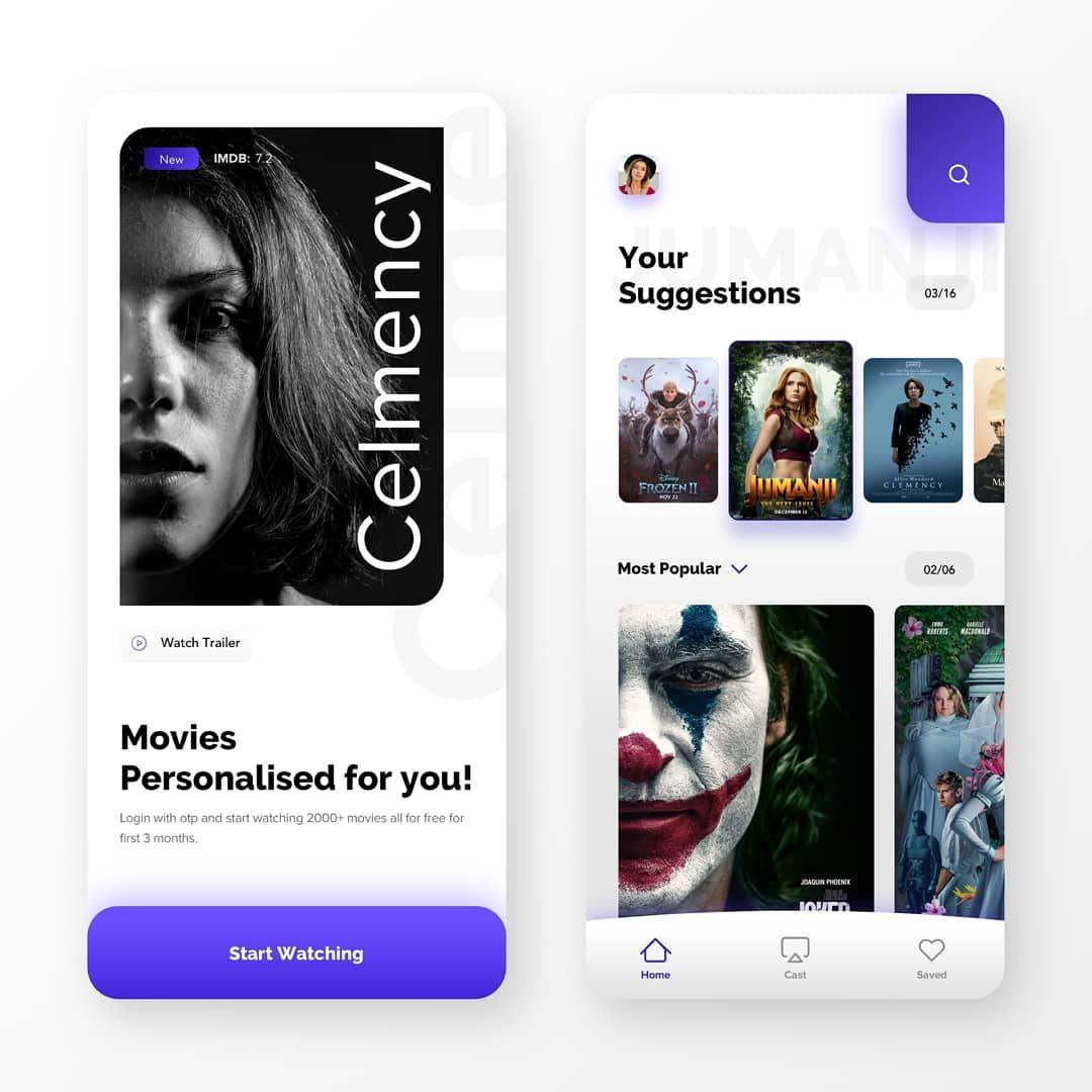Movie Streaming app screens.... (Dengan gambar)