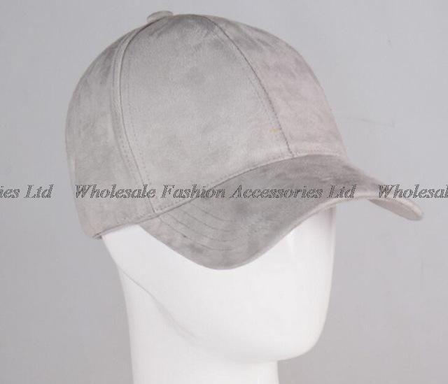 7d9156267e7 30pcs Lot Men Plain 6 Panel Suede Baseball Caps Fashion Women Blank Base  Ball Strapback Hats for Spring Autumn Wholesale Cap