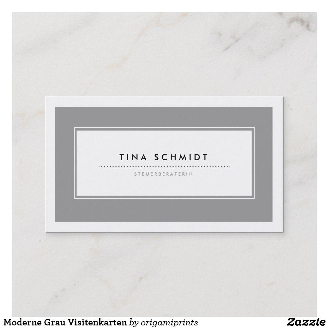 Moderne Grau Visitenkarten Business Card Zazzle Com